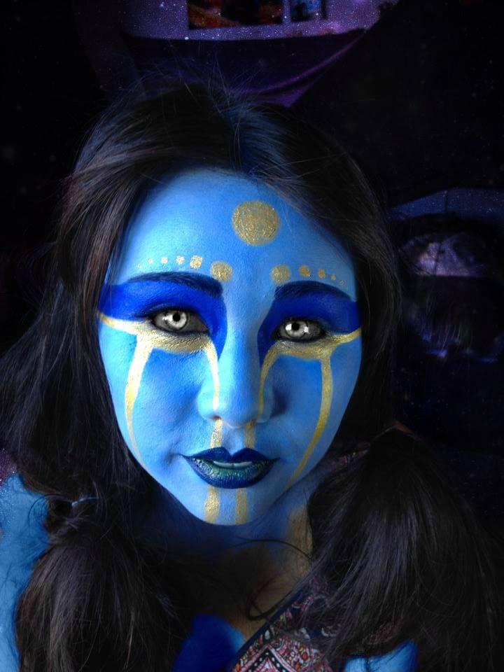 Royal Alien Face Paint