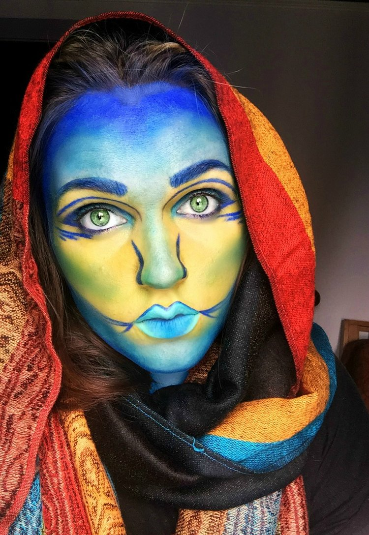 Beast and Beauty Makeup Colorful Alien Alex PS