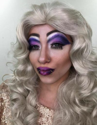 Purple Drag Makeup